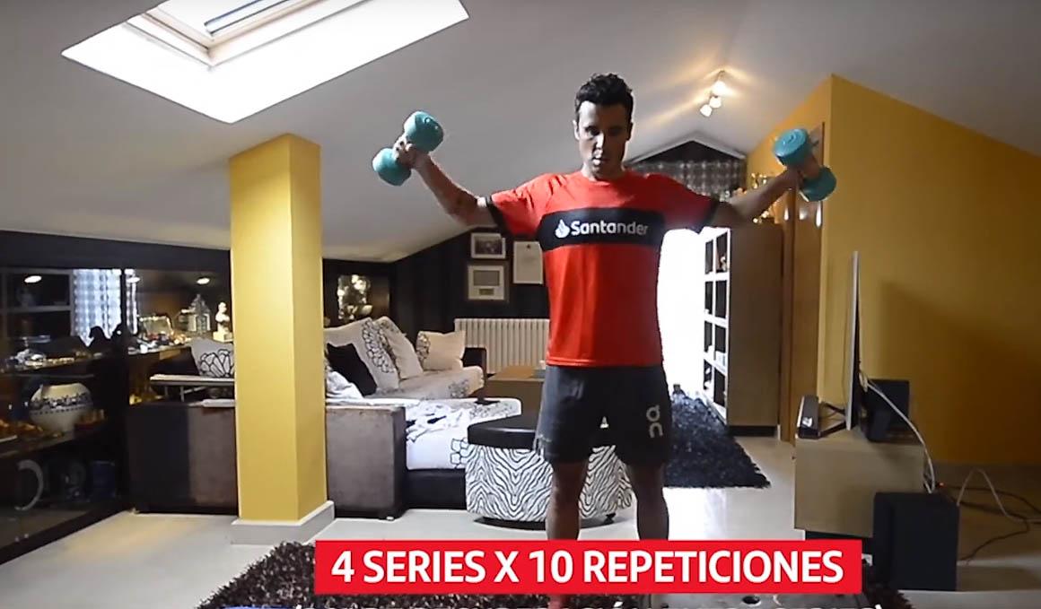 Los ejercicios de Javi Noya para entrenar en casa