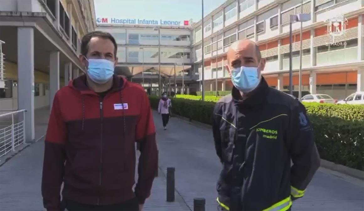 """Motorpress Ibérica y Bomberos de Madrid realizan el """"avituallamiento"""" en hospitales de Madrid"""