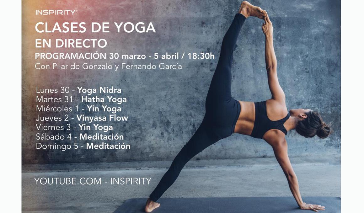 Clases de Yoga en Directo con Inspirity