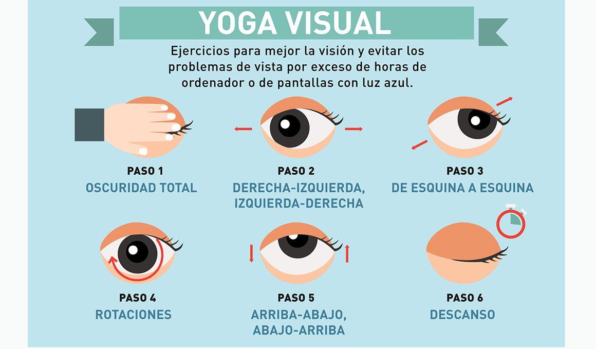 ¿Has probado el Yoga Visual? 5 ejercicios para cuidar la vista cansada y mejorar la visión