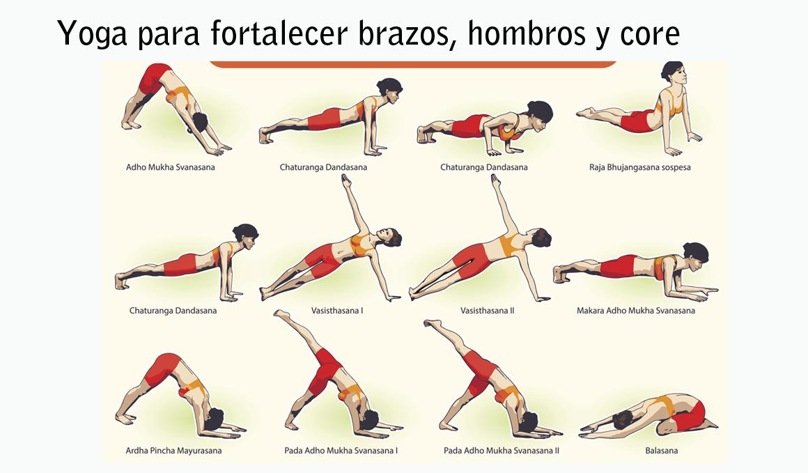 Yoga para fortalecer brazos, hombros, espalda, pecho y abdominales