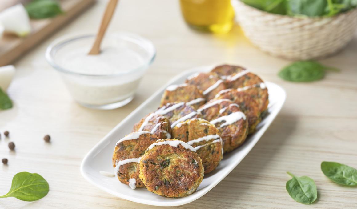 Receta de falafel de espinacas y garbanzos con vídeo