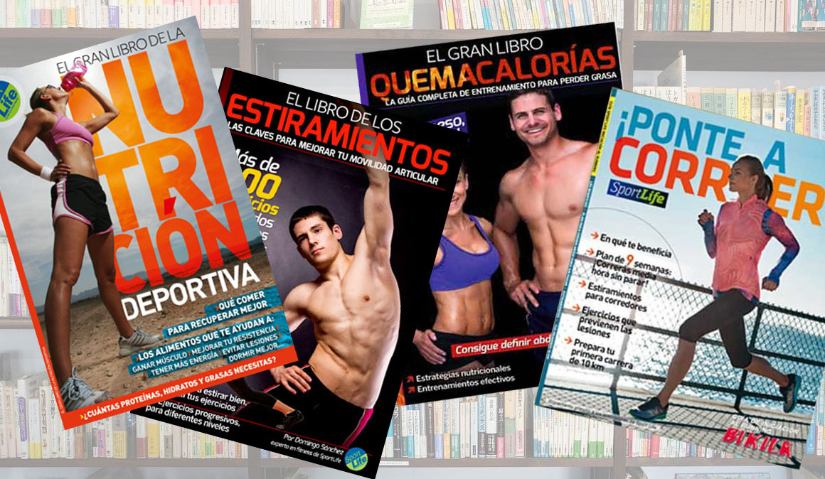 Hazte seguidor de Sport Life por 1 € y llévate toda una biblioteca de deporte y nutrición con 7 libros gratis