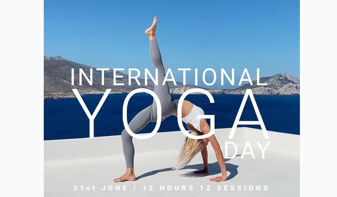 International Yoga Day, el 21 de junio, 12 horas–12 sesiones con Oysho
