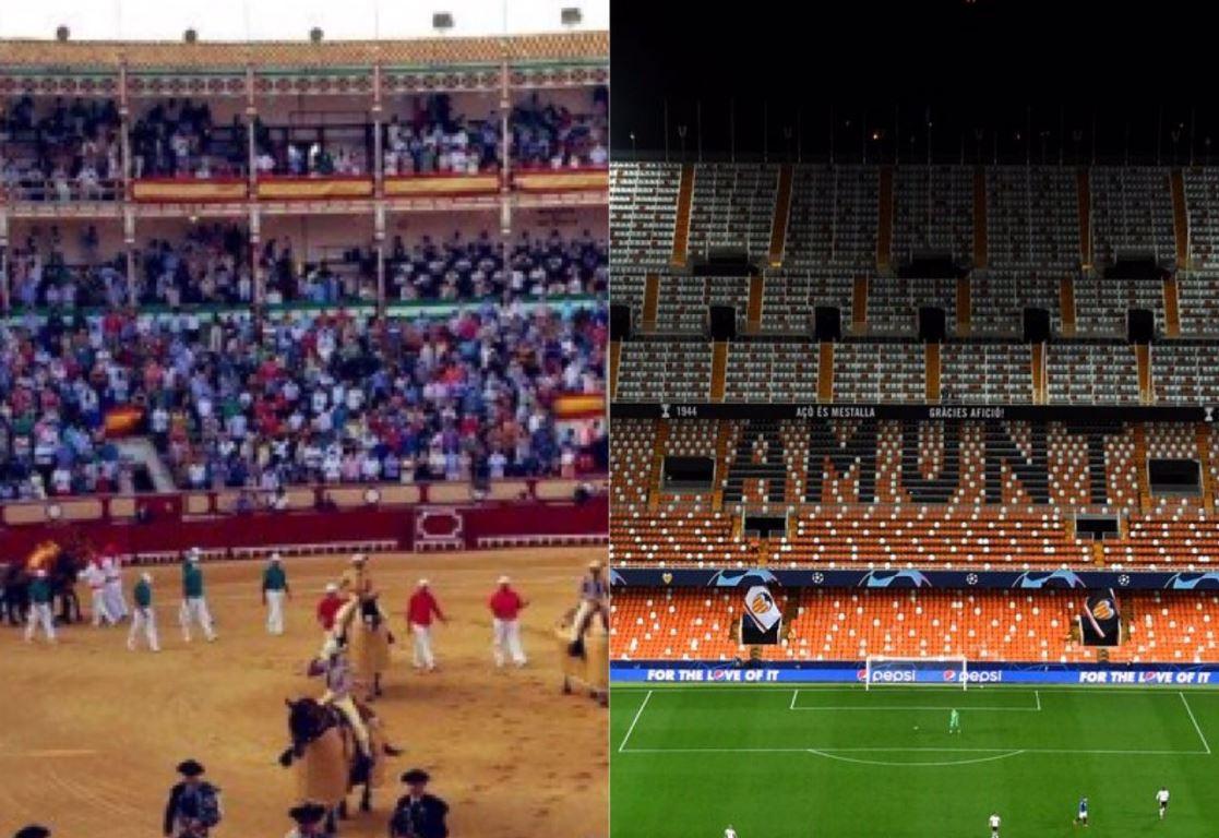 ¿Por qué los estadios de fútbol están vacíos y hay plazas de toros casi llenas?