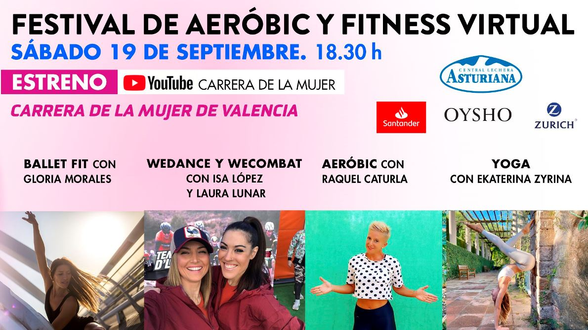 ¡Llega el festival de aeróbic, fitness y yoga gratuito y online de la Carrera de la Mujer!