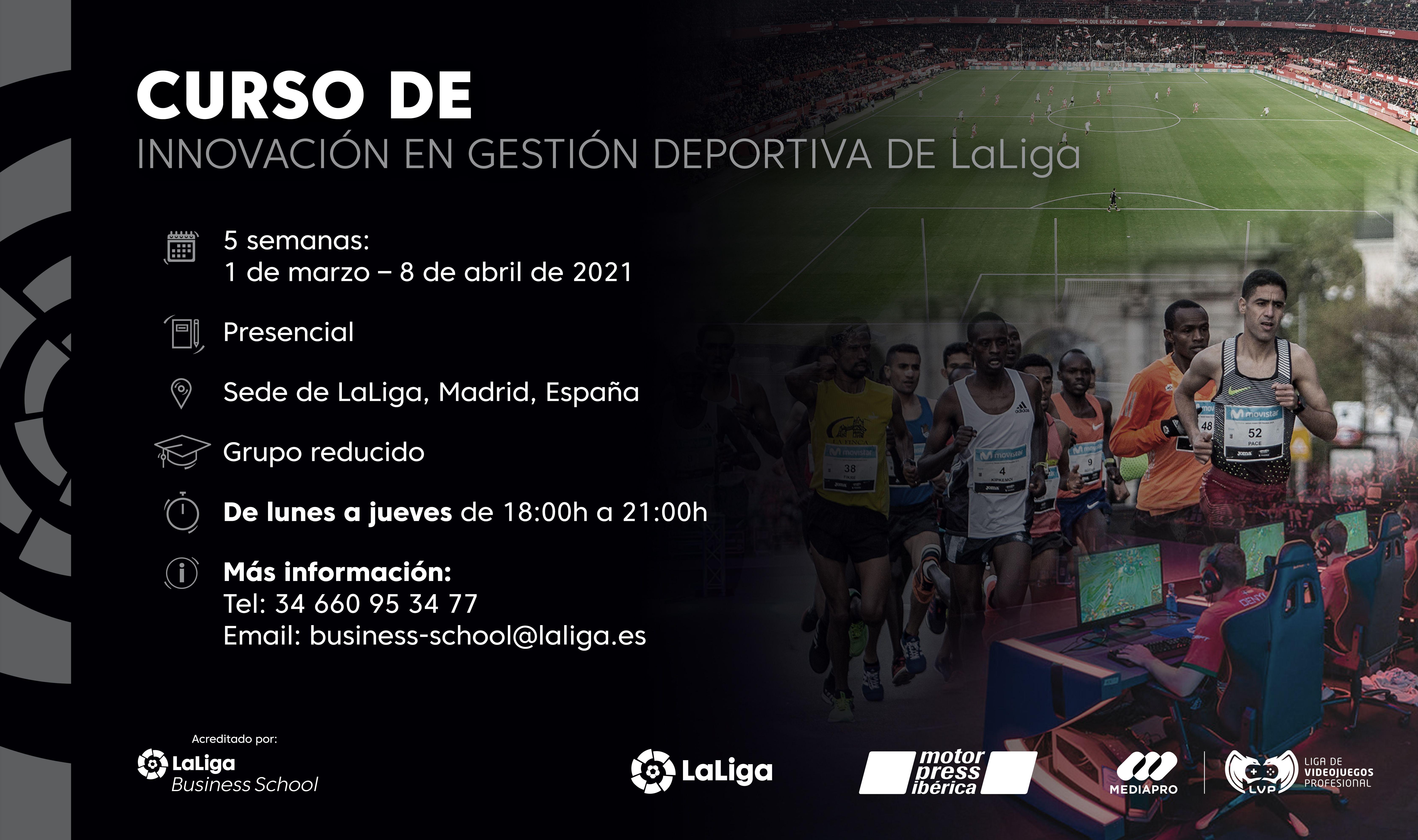 Curso de Innovación en Gestión Deportiva