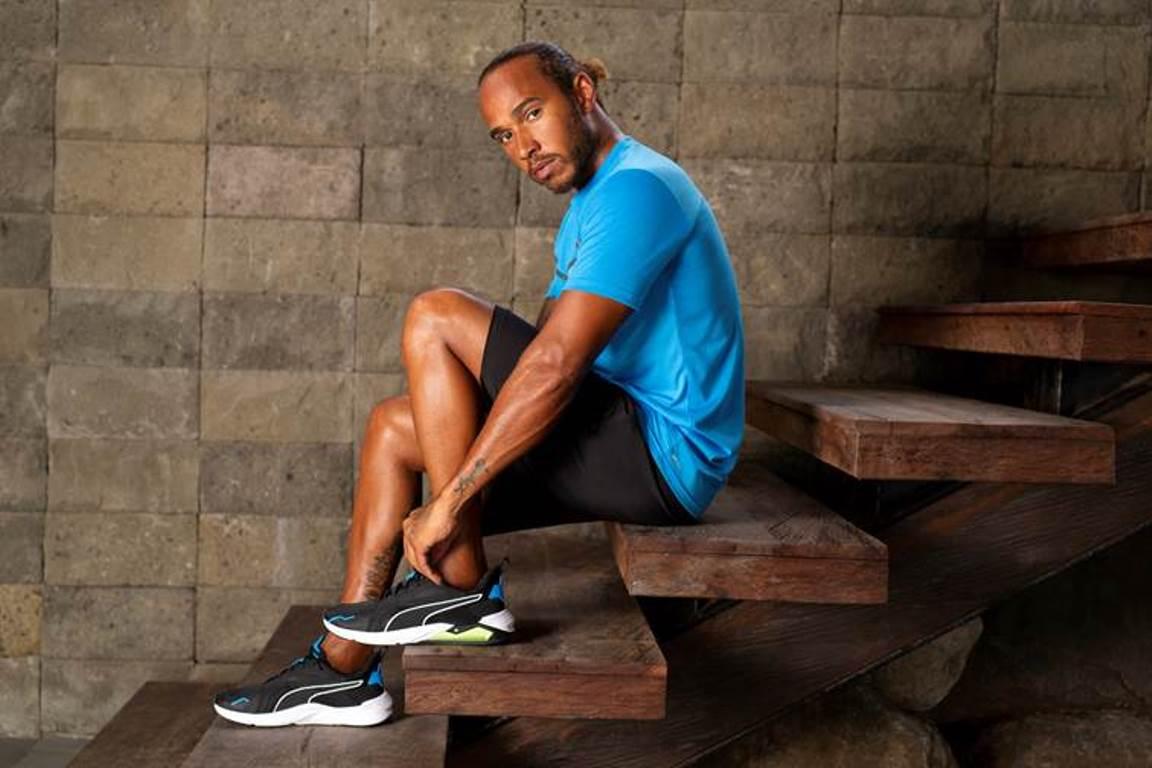 Las nuevas zapatillas de entrenamiento de Lewis Hamilton