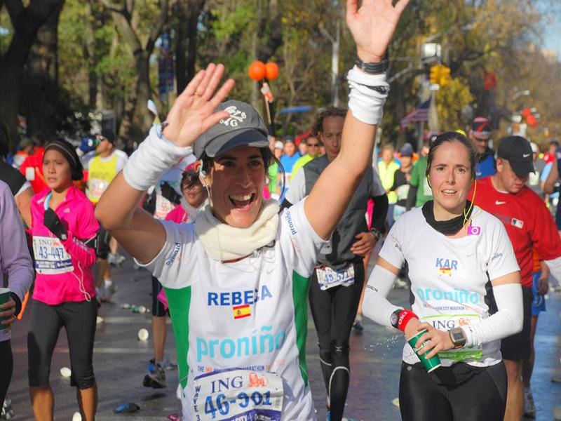 Rebeca Renedo, la familia y el maratón