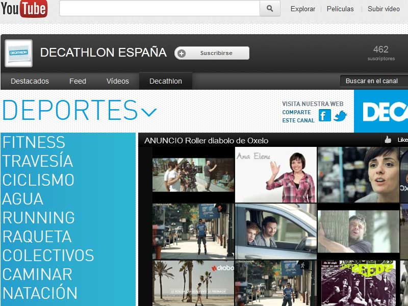 ¡Decathlon estrena canal en Youtube!