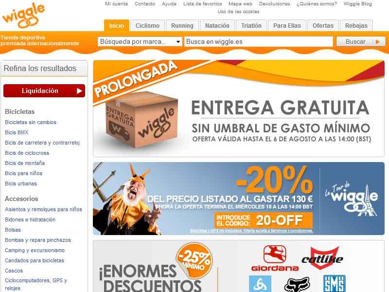Wiggle lanza su página en español