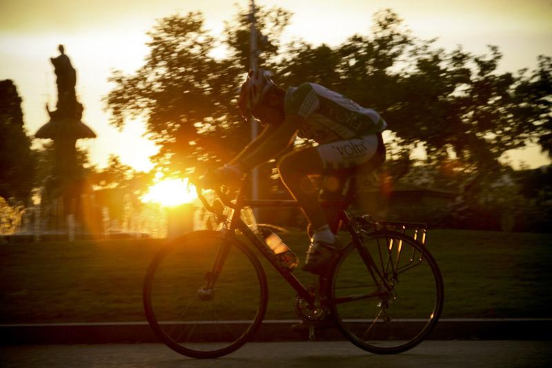 Triatletas sobre ruedas