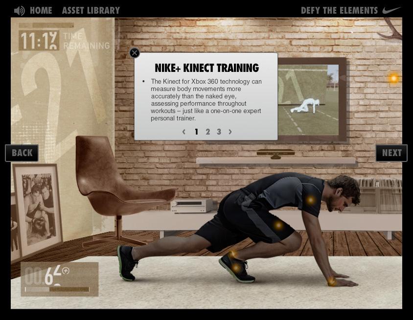 Aplicación Nike+ Defy The Elements