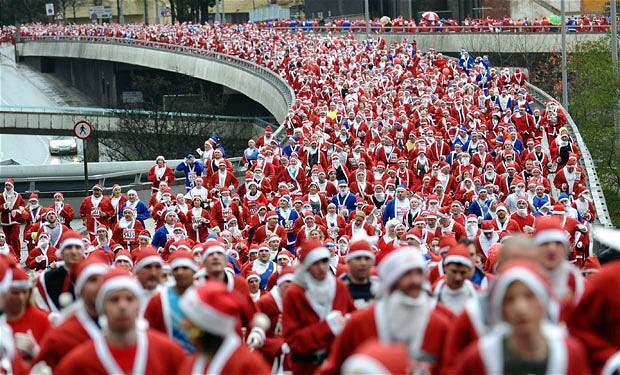 La carrera de Papa Noel se celebra por primera vez en España