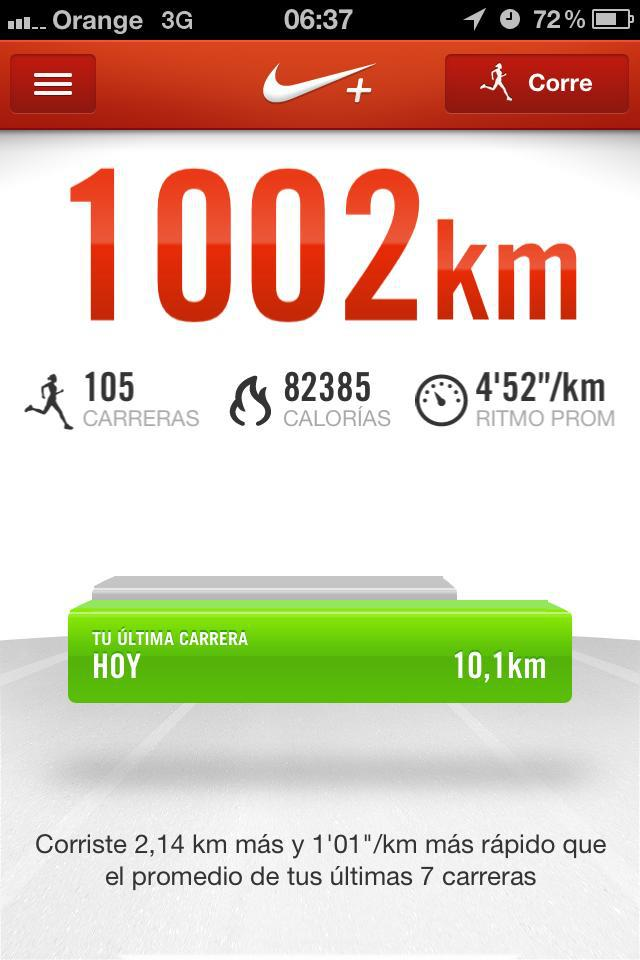 Aplicación Nike+ Run The Elements