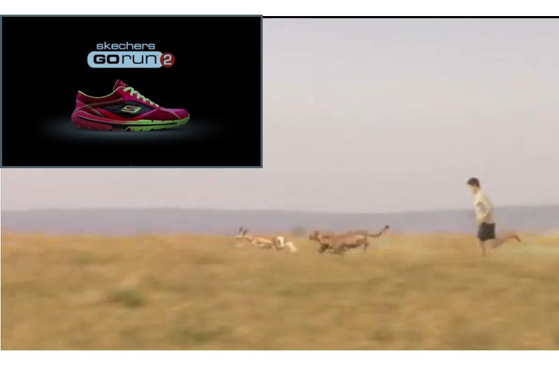 """""""Hombre frente a guepardo"""", el spot que Skechers presentará en el intermedio de la Super Bowl"""