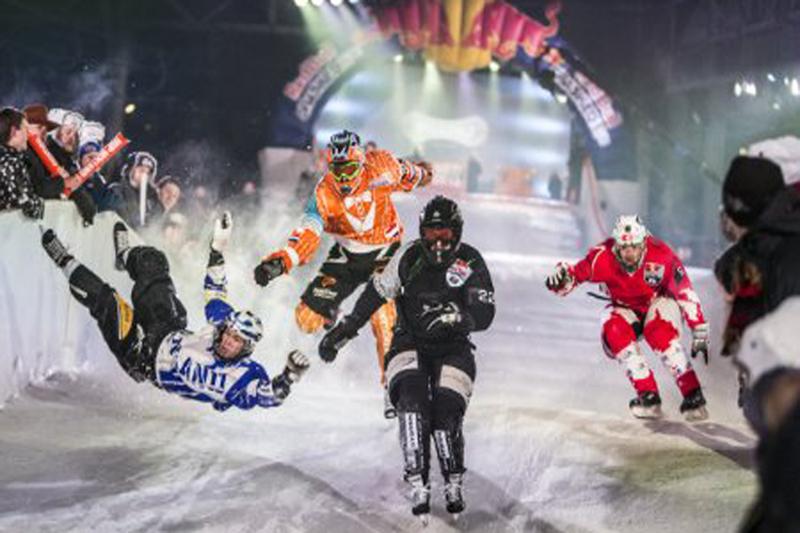 Sorpresa europea en la pista de hielo más rapida del Mundial Red Bull Crashed Ice