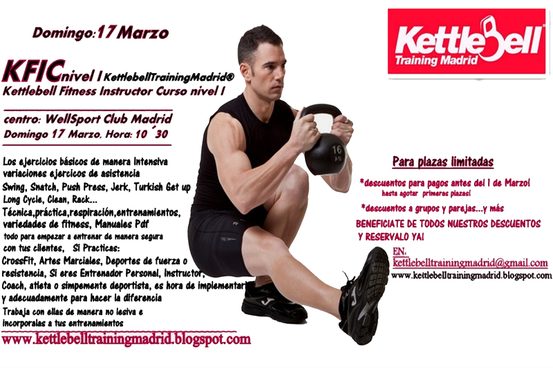 Apúntate al Curso de Instructor Kettlebells Fitness KFIC nivel 1