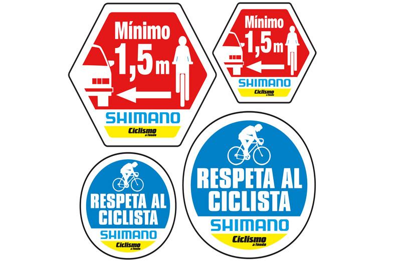Ciclismo a fondo con la seguridad vial: incluye pegatinas con su nuevo número