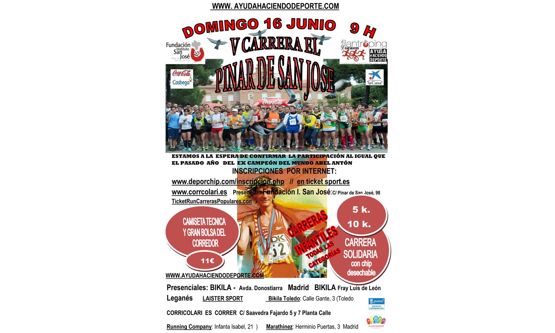 Apúntate a la 5ª Carrera del Pinar de San José