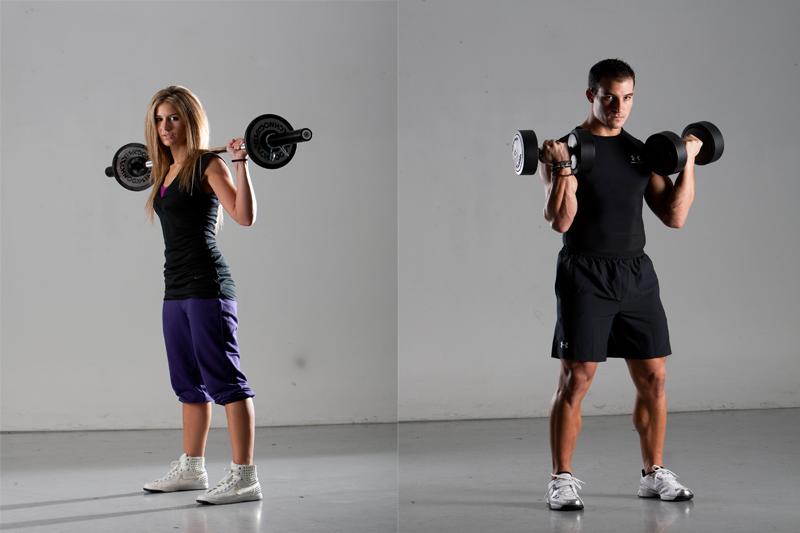 Musculación para el hombre y la mujer deportista