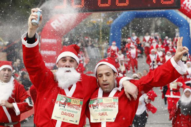 La carrera popular de Papa Noel llega a Madrid