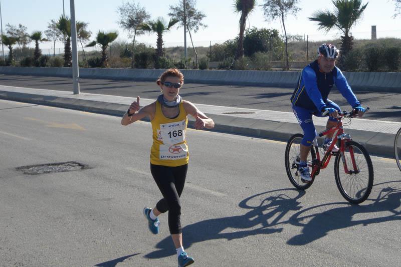 Laura Delgado, una curtida maratoniana en la Sansilvestrada