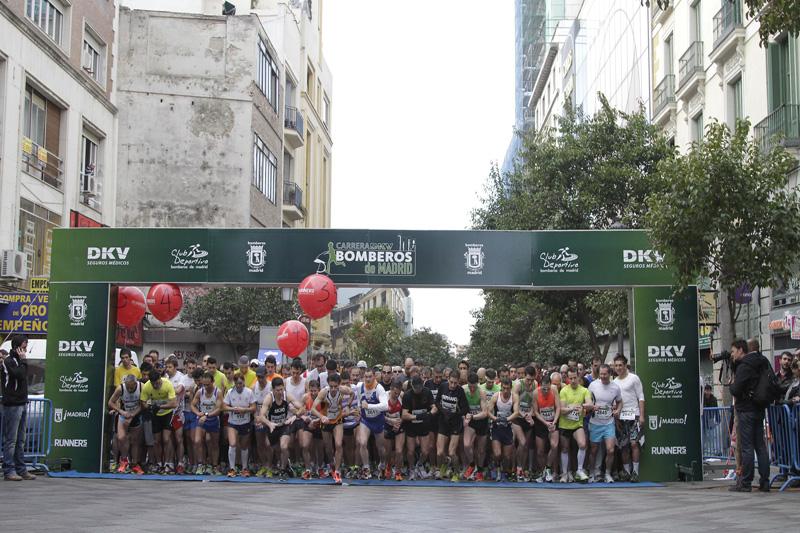 10 km de lujo en Madrid en la Carrera DKV Bomberos