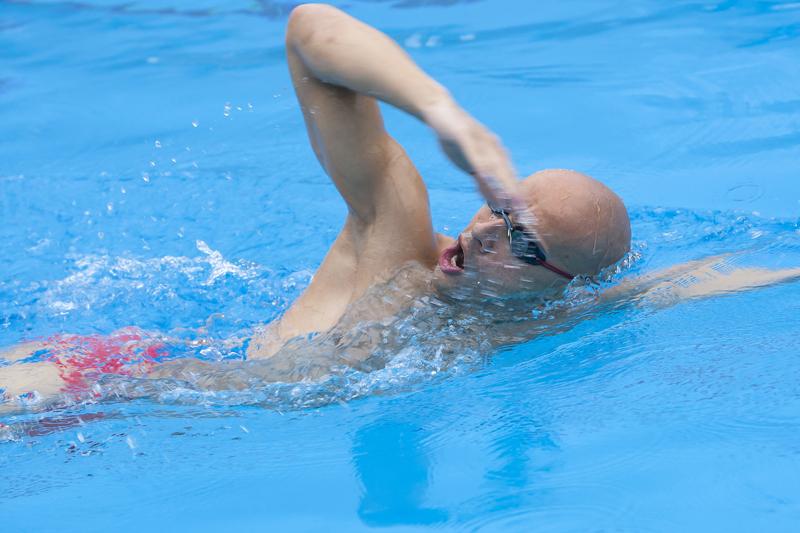 Domina la respiración en la piscina