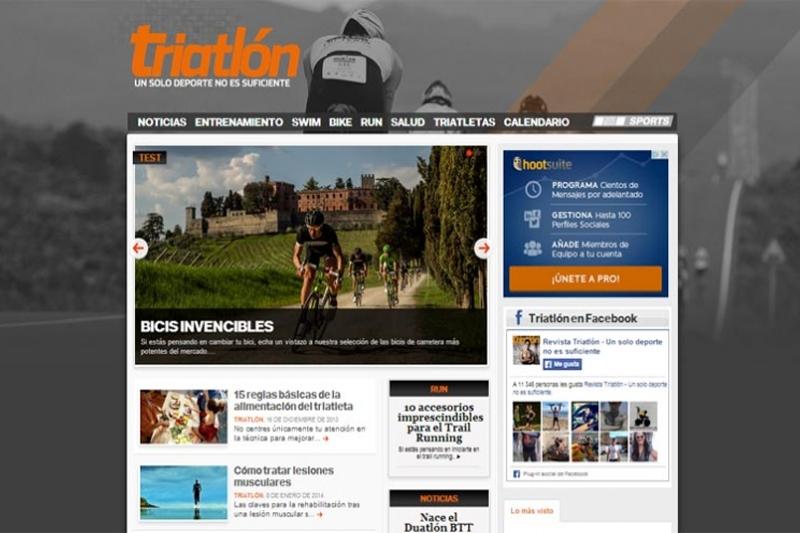 Triatlón estrena nueva página web