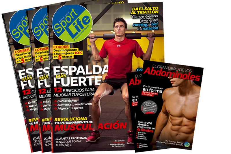 Sport Life marzo llega a los quioscos con el libro de los abdominales