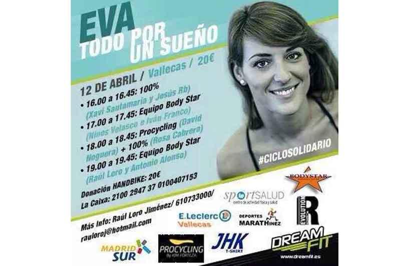 """Ciclo indoor solidario """"Eva por un sueño"""""""