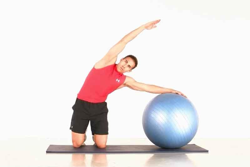 Core con fitnessball: circuito 1