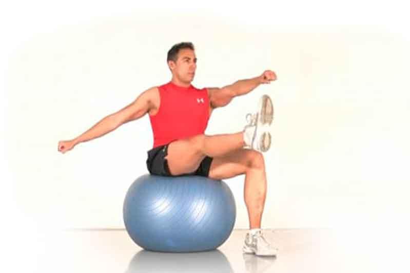 Estabilidad con el fitnessball