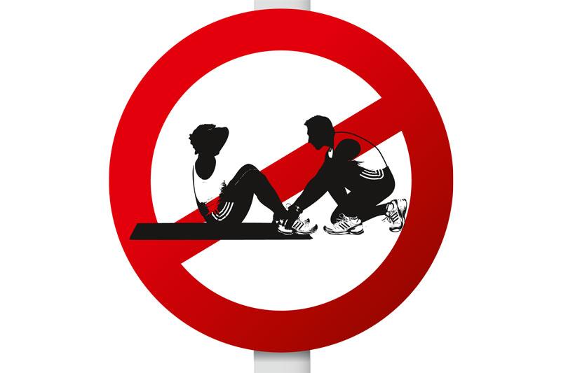 Los abdominales prohibidos