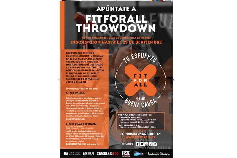 Fit For All Throwdown: tu esfuerzo por una buena causa