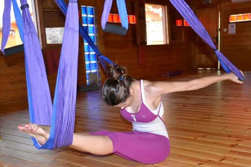 Talleres de yoga y Pilates aéreo