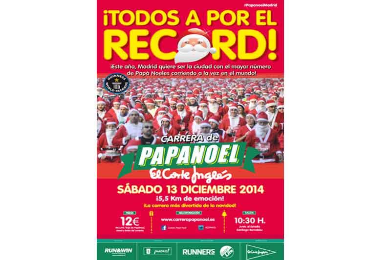 Récord de Papá Noeles runners en Madrid