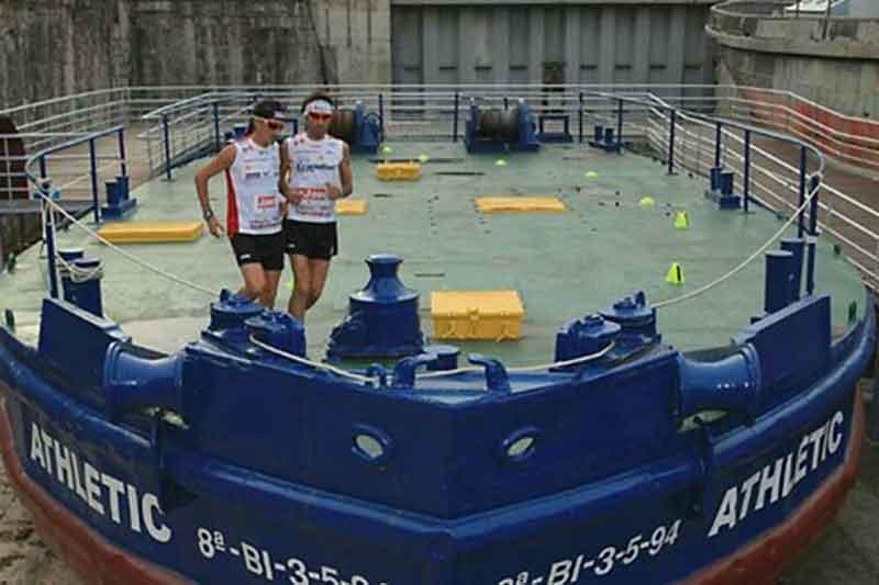 ¡Un maratón en la Gabarra!