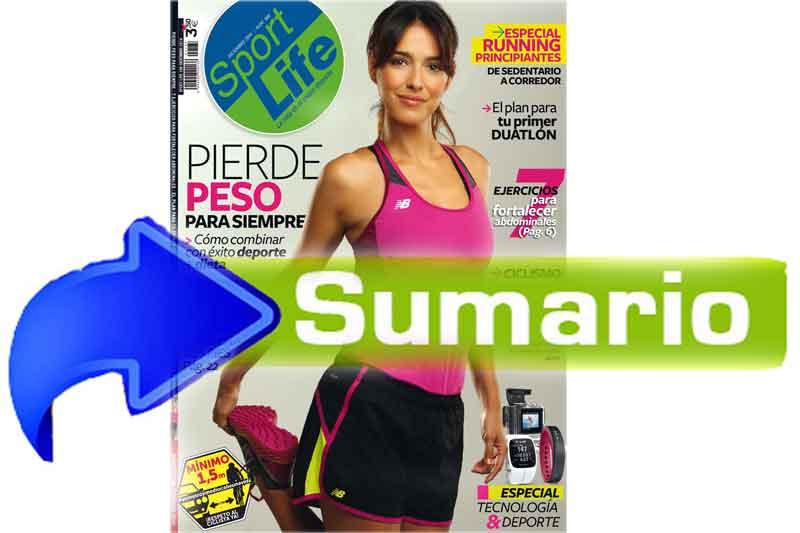 Sumario Sport Life 188 diciembre 2014