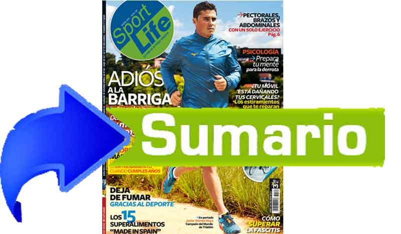 Sumario Sport Life 190 enero 2015