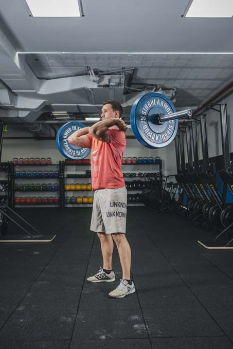 Squat Clean para entrenamiento de fitness de alta velocidad