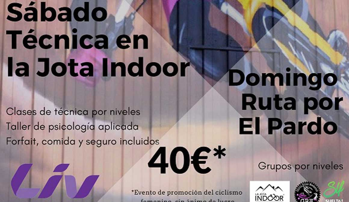¿Te animas a La Jota Indoor? Mountain Bike para mujeres en Madrid ek 23 y 24 de febrero