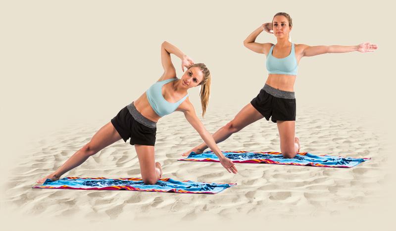 Circuito de abdominales para llevarte a la playa o piscina