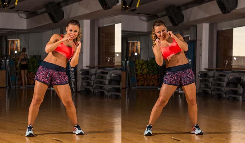 ¡El circuito exprés para tus abdominales! Fuerza + kick boxing