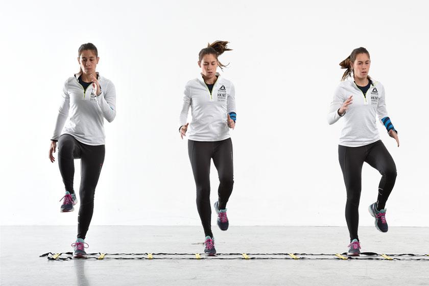Entrenamiento de saltos y minivallas para el reto Sport Life febrero
