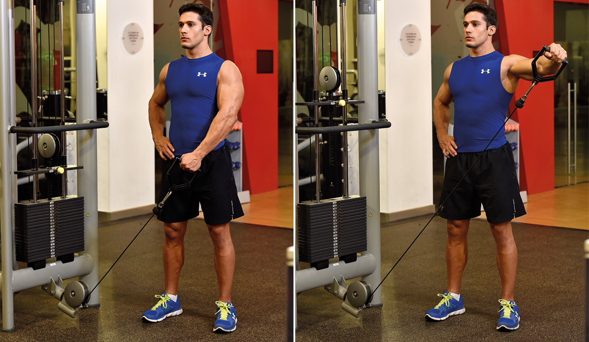 Los ejercicios para conseguir unos hombros fuertes