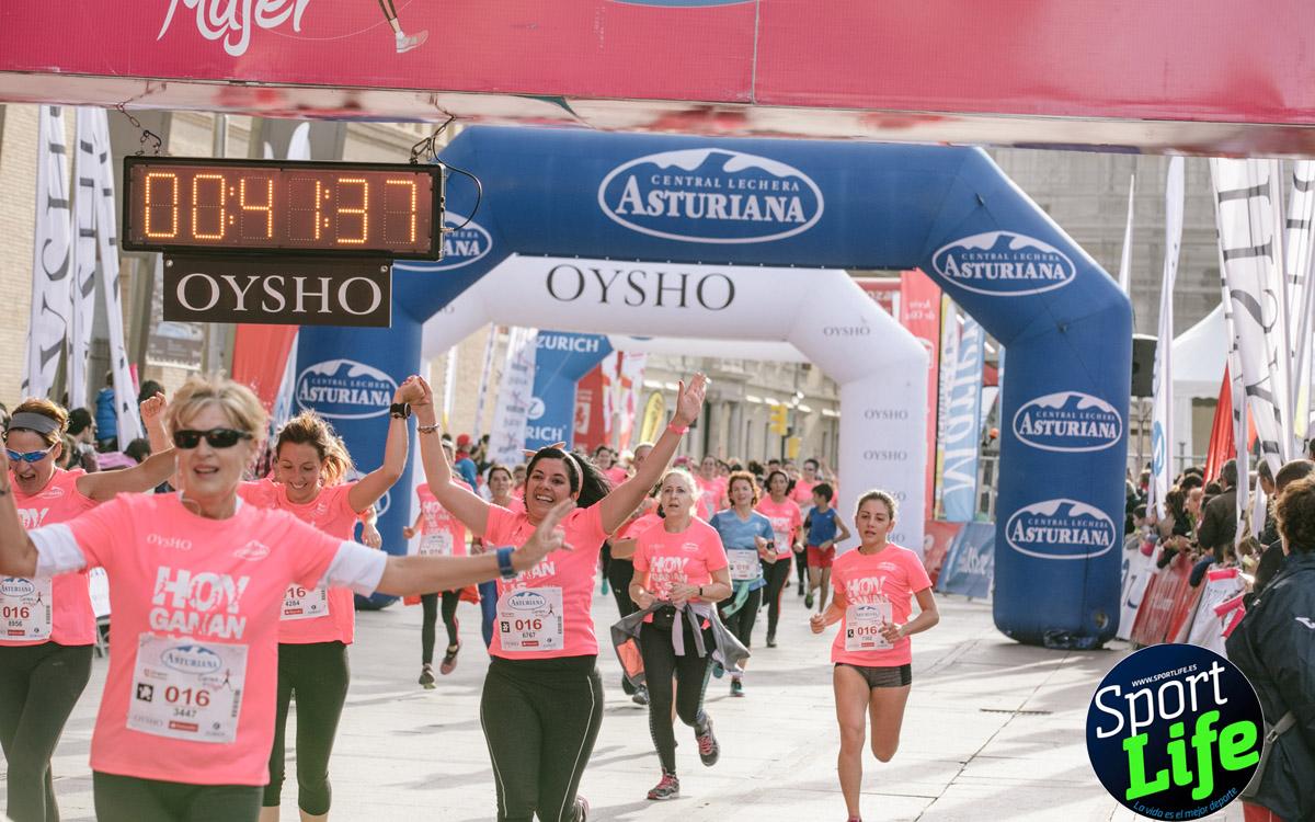 Imágenes de meta de la Carrera de la Mujer de Zaragoza (desde el minuto 41 hasta el final)