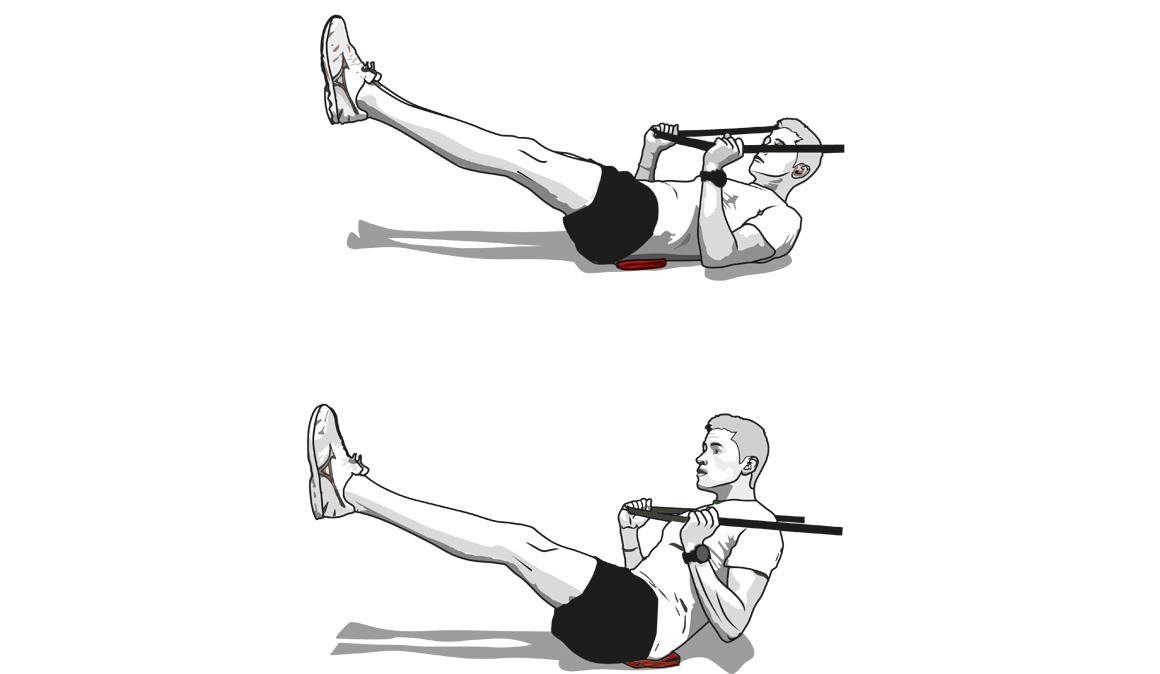 Una goma elástica para entrenar tus músculos