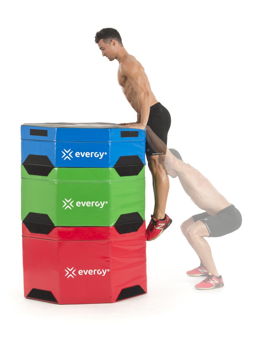 Circuito de saltos con cajón